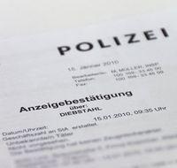 Anzeigebestätigung der Polizei